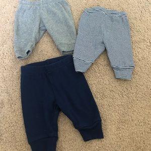 Newborn pants and bodysuits